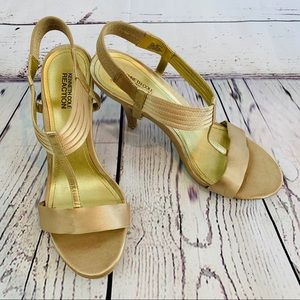 Kenneth Cole gold heels